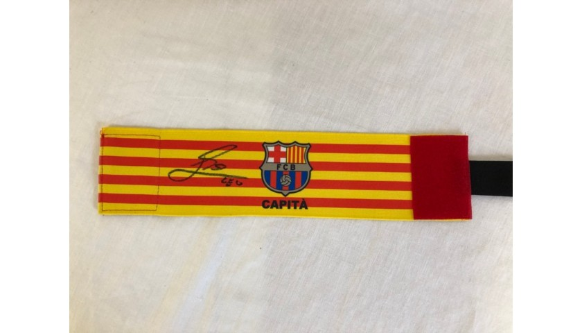 Barcelona Captain's Match Armband - Signed by Messi
