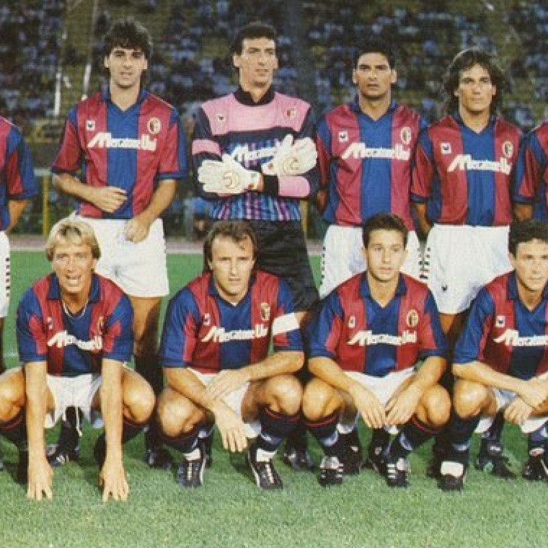 Bonini's Bologna Match-Issue/Worn Shirt, 1989/90
