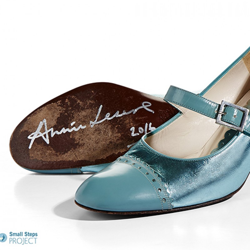 Annie Lennox's Autographed Cacharel Shoes from her Personal Collection