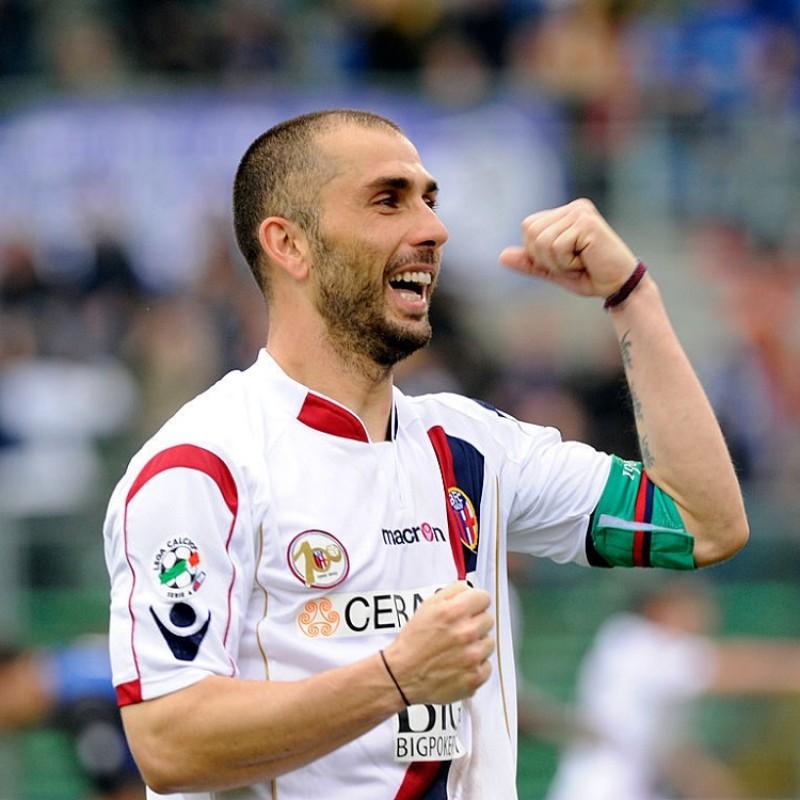 Di Vaio's Bologna Signed Centenary Match Shirt