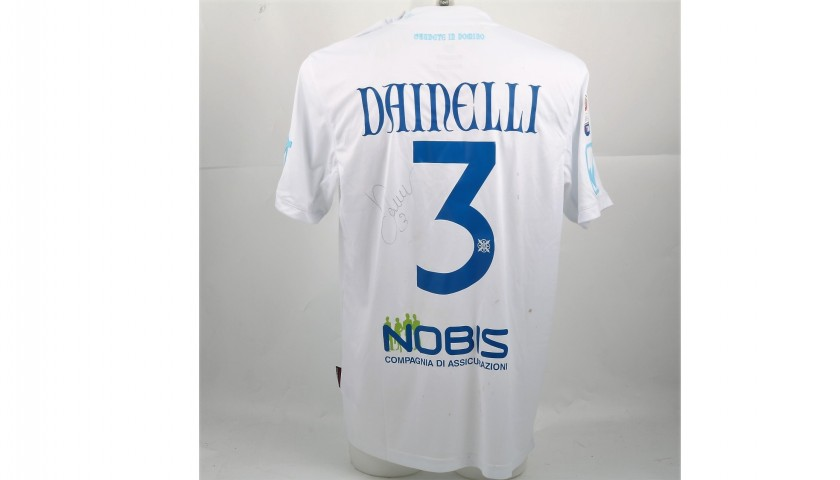 Dainelli's Signed Match-Worn Crotone-Chievo Shirt, UNWASHED