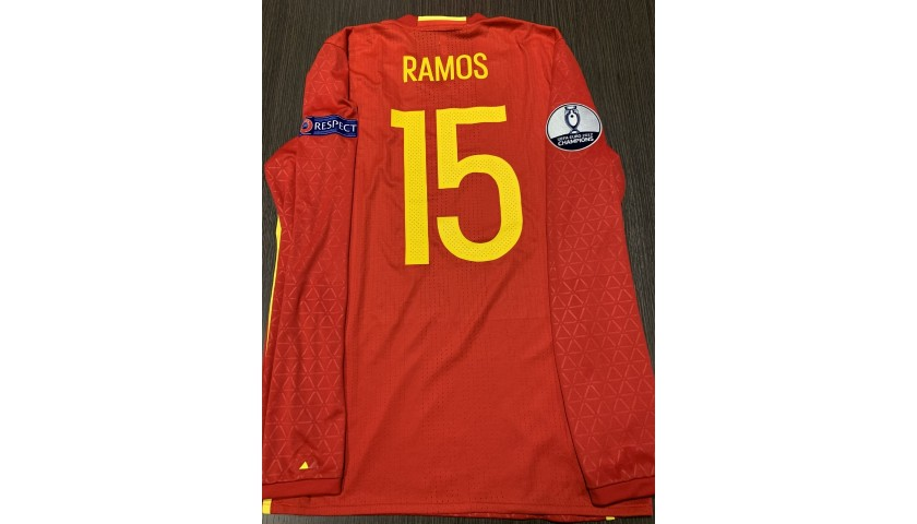 Ramos' Match Shirt, Spain -Turkey 2016