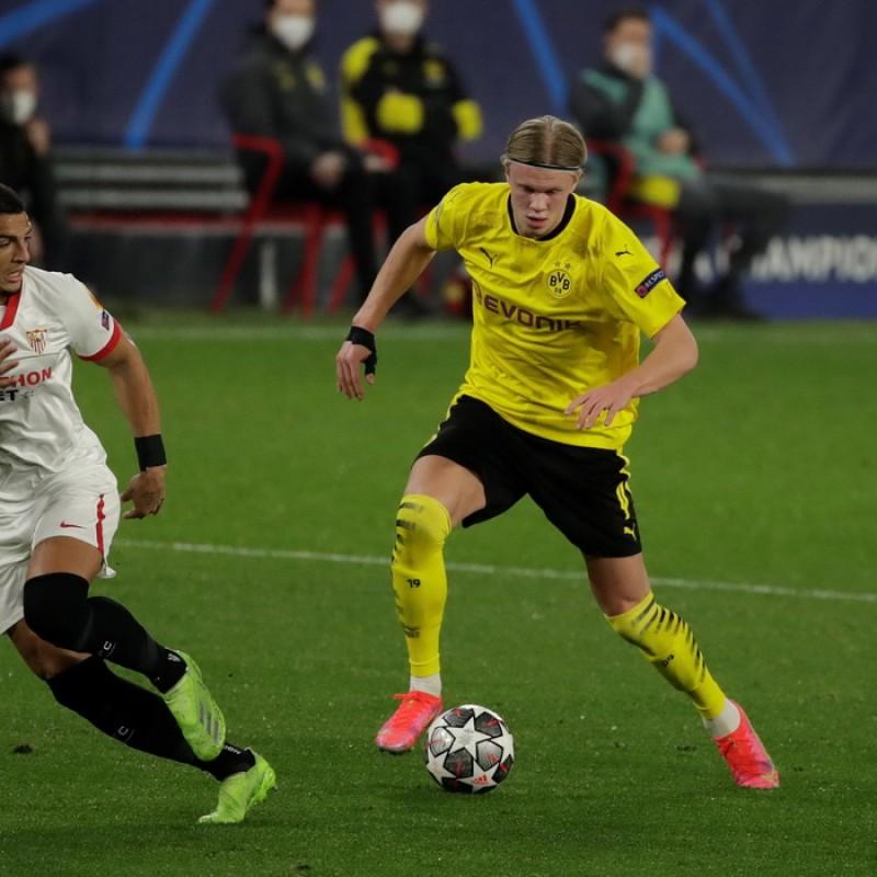 Match-Ball, Sevilla-Borussia Dortmund 2021 - Signed by Haaland