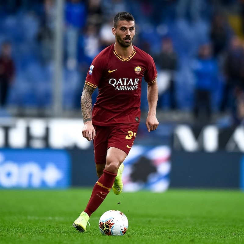 Spinazzola's Roma Match Shirt, 2019/20