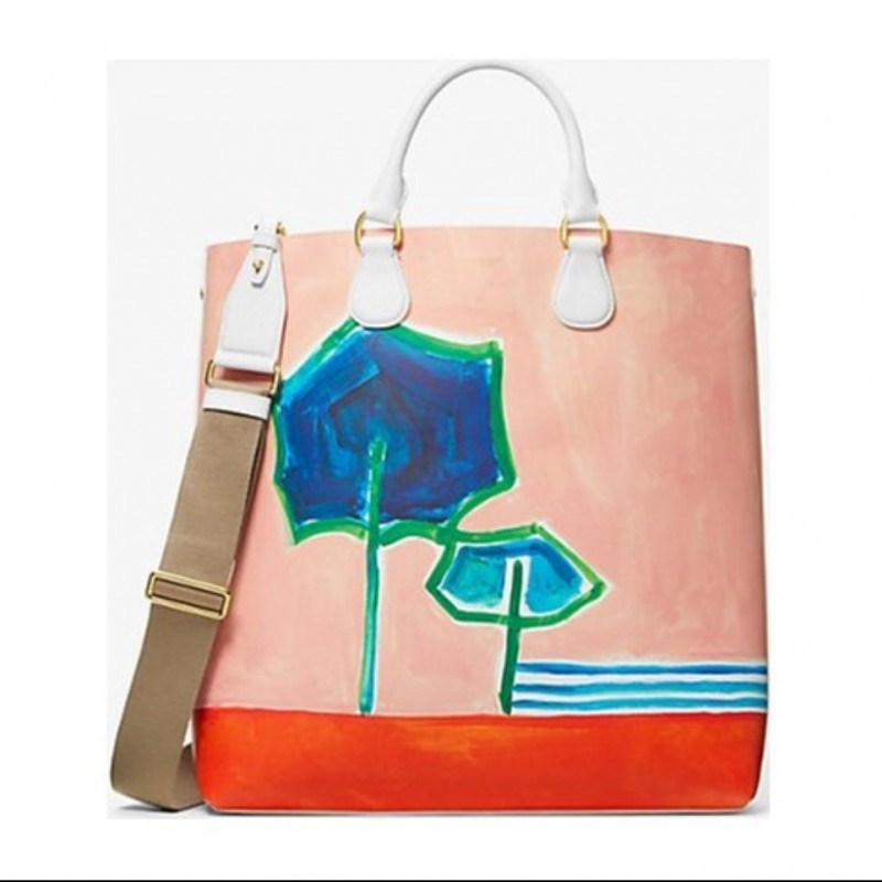 Michael Kors Salmon Pink Leather Tote
