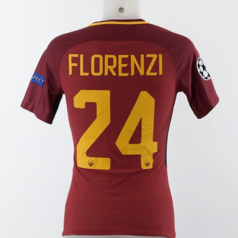 Florenzi's Match-Worn AS Roma Shirt, Roma-Qarabag 2017/18 CL