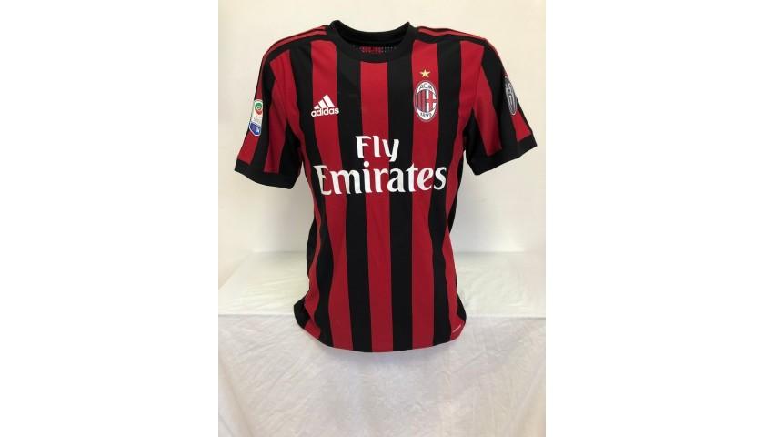 Calhanoglu's Milan Match Shirt, 2017/018