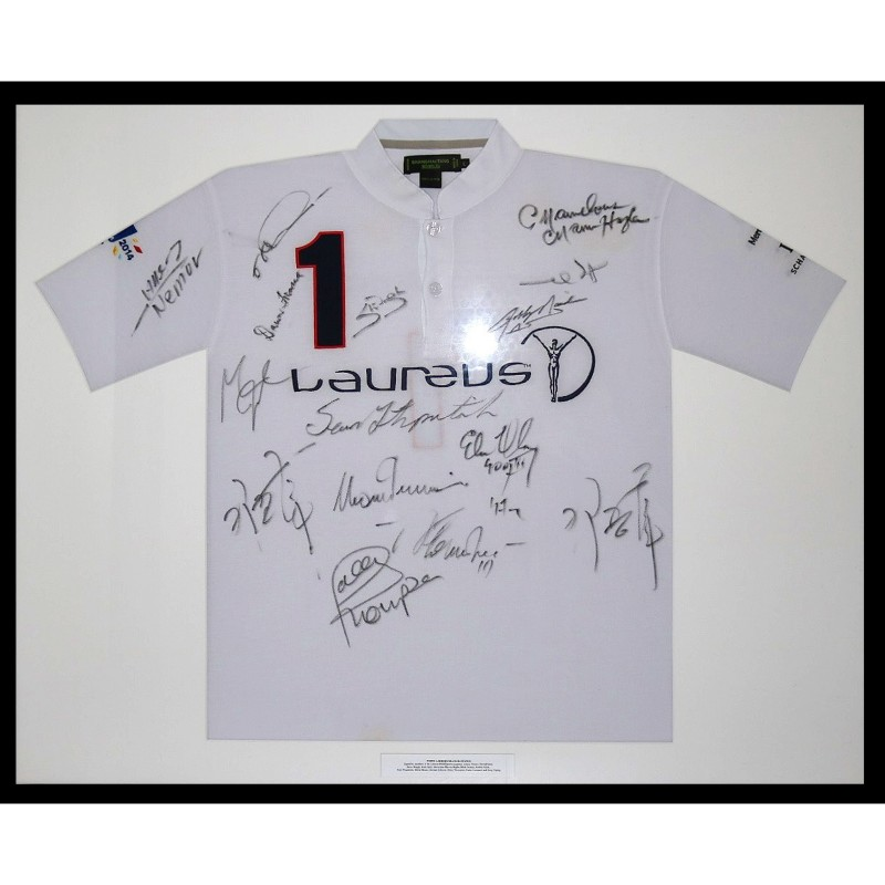 Shanghai Tang Shirt Signed by Laureus Brand Ambassadors