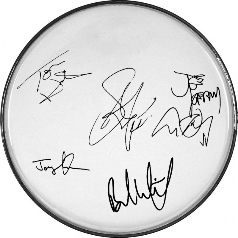 Aerosmith Drumhead with Printed Signatures