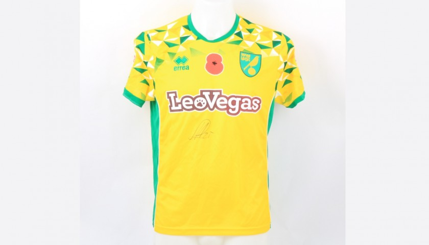 Hernandez' Norwich Poppy Match Shirt - Signed