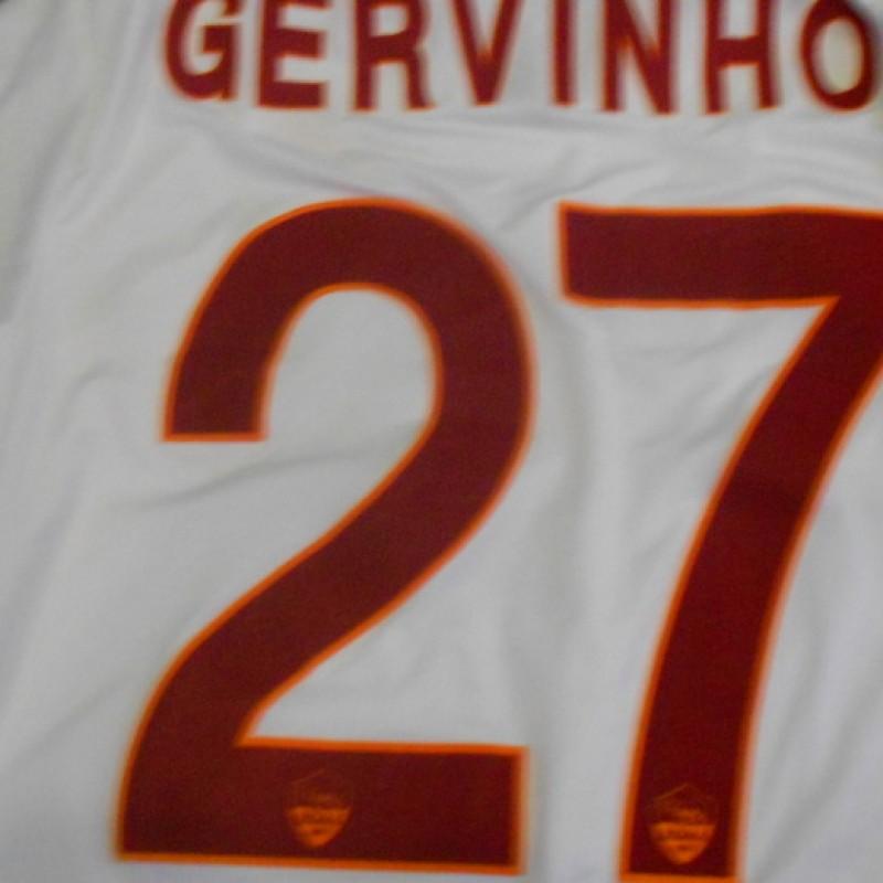 Gervinho Roma shirt worn, Milan-Roma Serie A 2014/2015