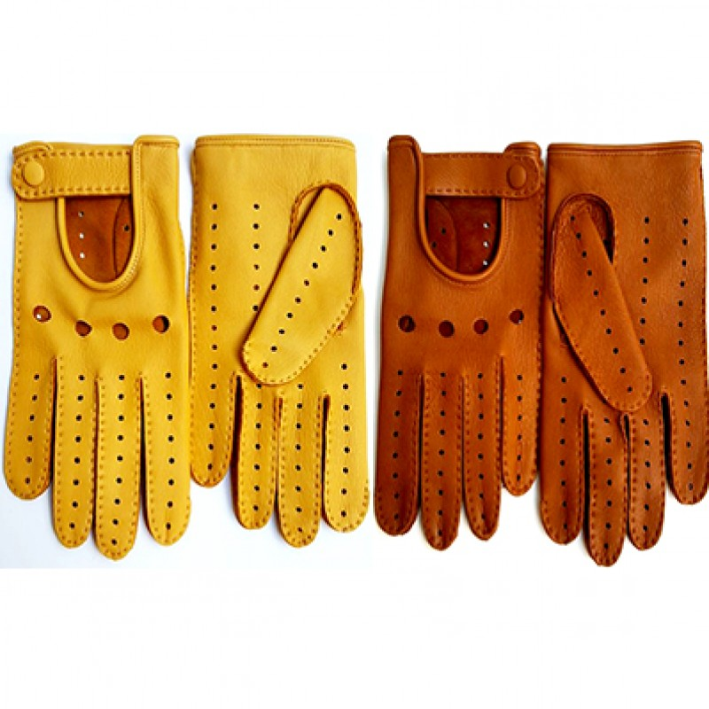 Two Pairs of Leather Gloves for Men and Women