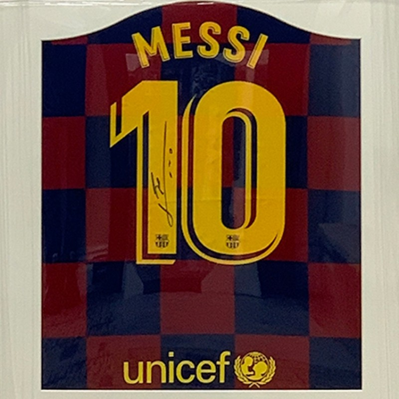 Messi's Barcelona Signed Shirt - 2019/20