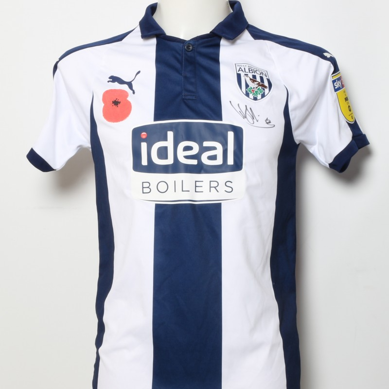 4f520655 Wes Hoolahan's West Bromwich Albion Worn and Signed Home Poppy Shirt