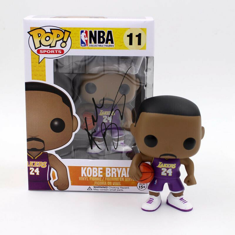 Kobe Bryant Funko Pop! Figure with Printed Signature
