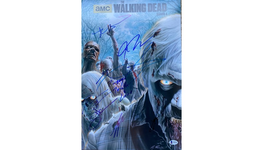 The Walking Dead Cast Signed Photo