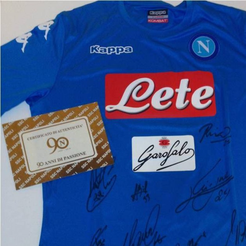 Official SSC Napoli shirt, Serie A 16/17 - signed by team players