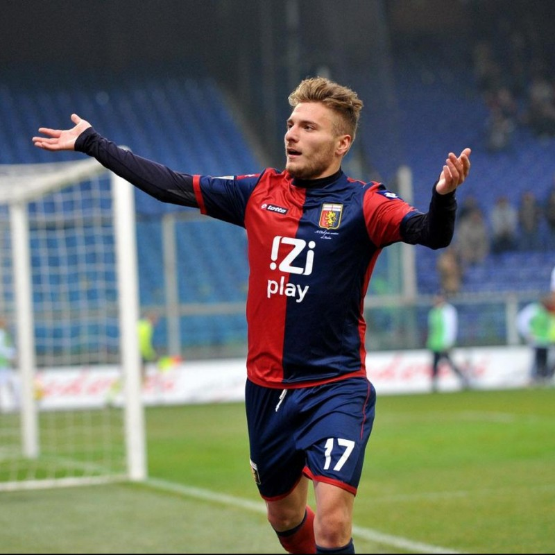 Immobile's Match-Issued/Worn Genoa Shirt, Serie A 2012/13