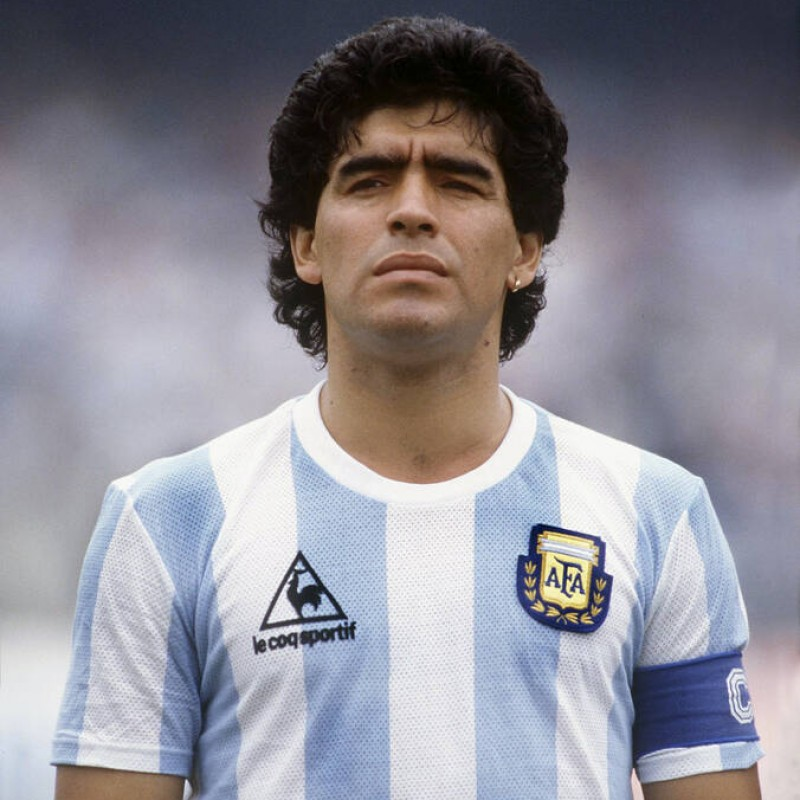 Maglia Ufficiale Maradona Argentina, 1986 - Autografata