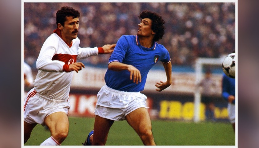 Altobelli's Worn Shirt, Italy-Mexico 1984