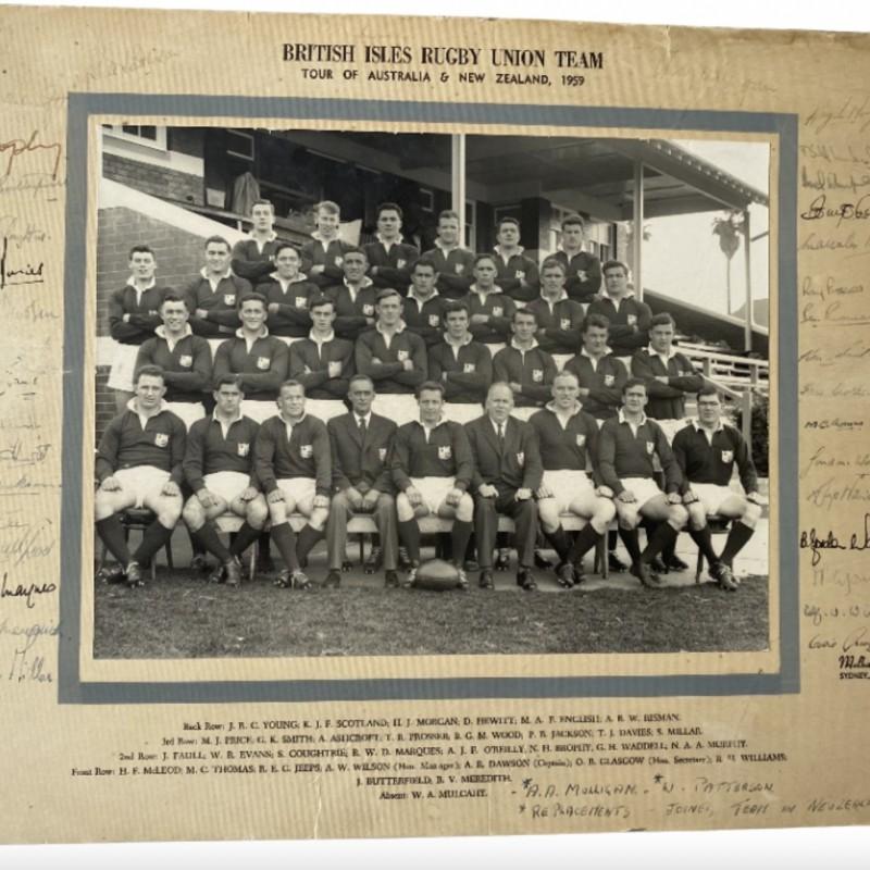 Lions 1959 Tour Squad Signed Photo