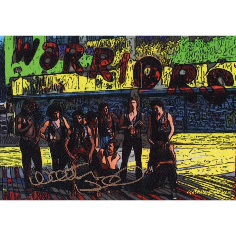 The Warriors - Walter Hill Signed Pop Artwork by Gabriele Salvatore
