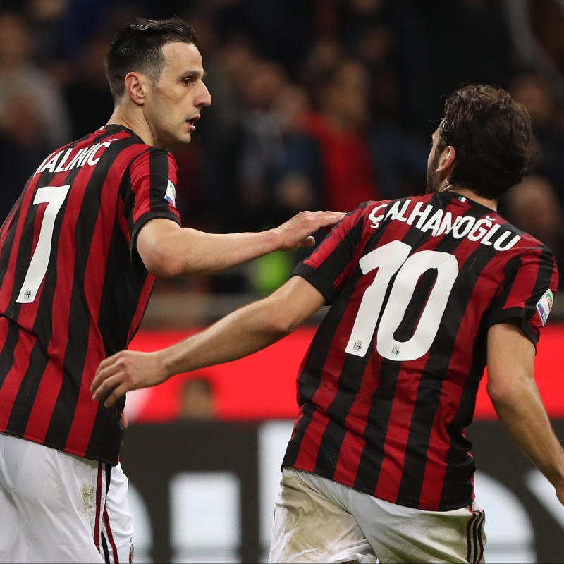 Kalinic's Match-Worn Milan-Inter Shirt with Special Patch