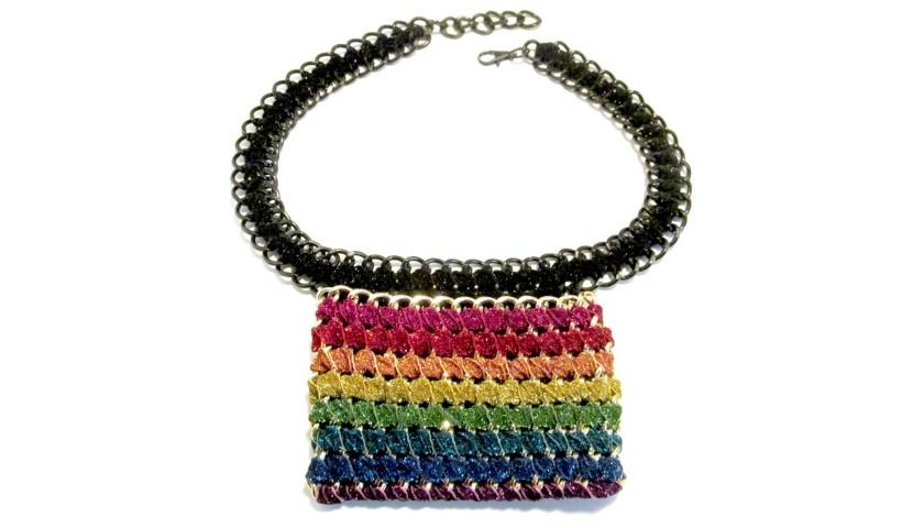 TAMBONITA Shimmer Rainbow Hipster
