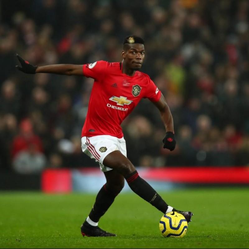 Pogba's Manchester United Match Shorts, 2019/20