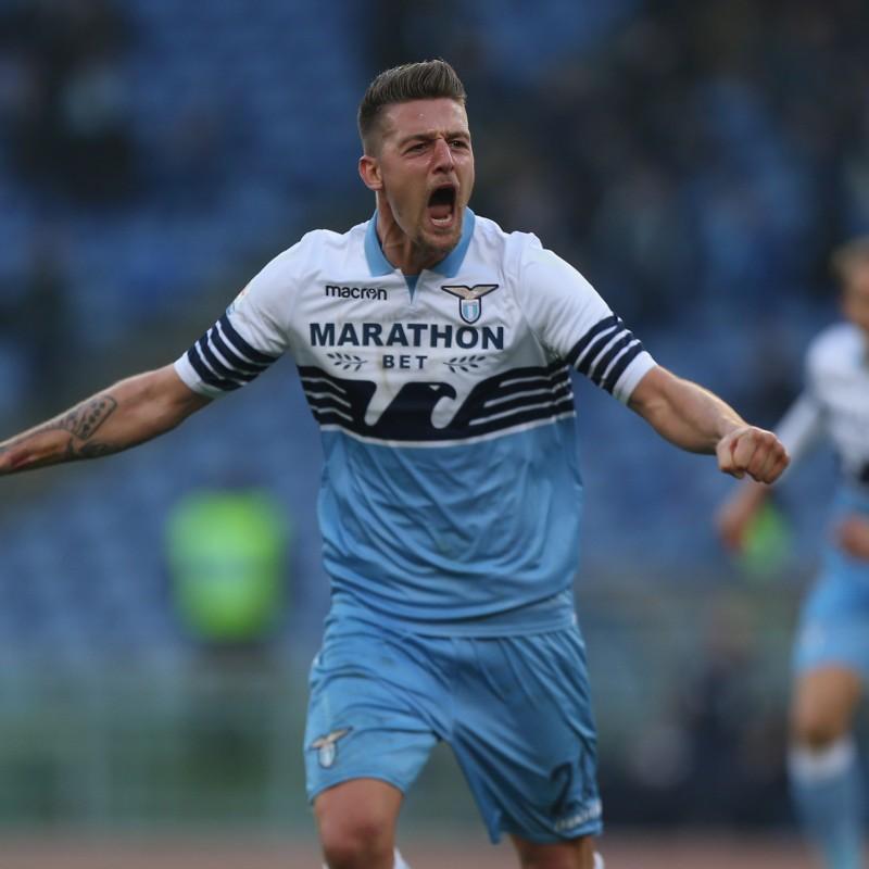 Sergej's Lazio Signed Match Shirt, Serie A 2018/19