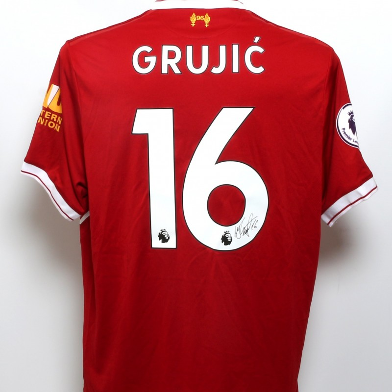 "Grujic Signed Limited Edition ""Seeing is Believing"" 2017/18 Liverpool FC shirt"