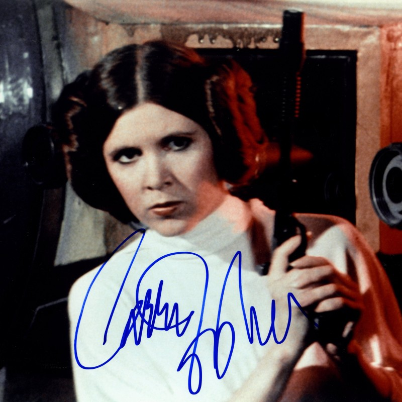 "Carrie Fisher ""Star Wars"" Hand Signed Photograph"
