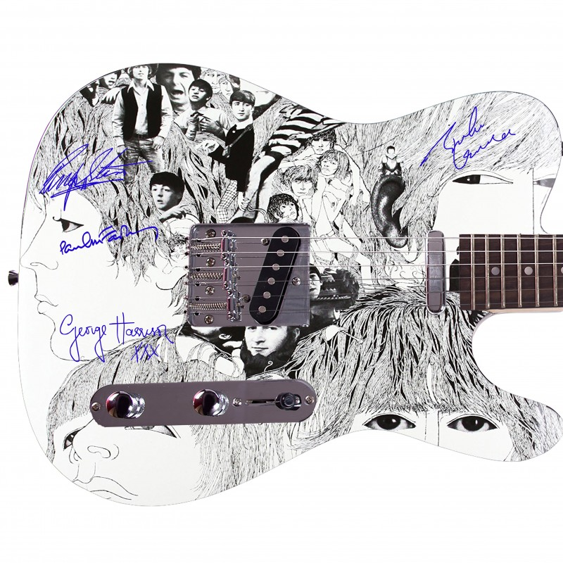 "The Beatles ""Revolver"" Custom Graphics Guitar"