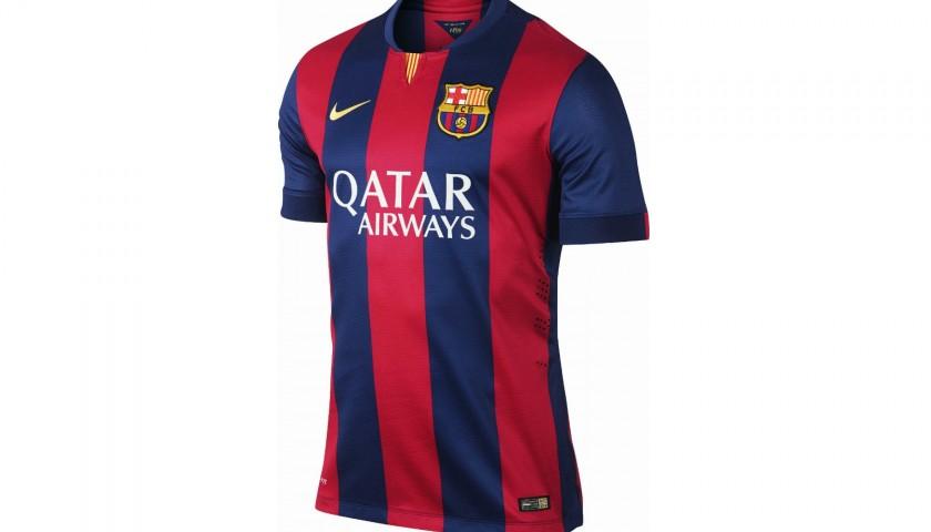 ee8a5748 Official Barcelona 2014/15 Shirt - Signed by Neymar - CharityStars