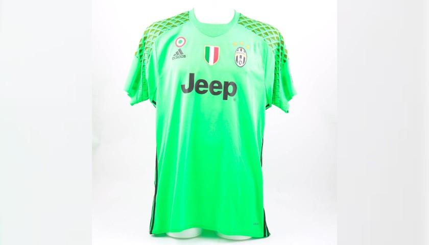 49bd89f08 Buffon's Match-Issue Juventus Shirt, 2016/17 UCL - CharityStars
