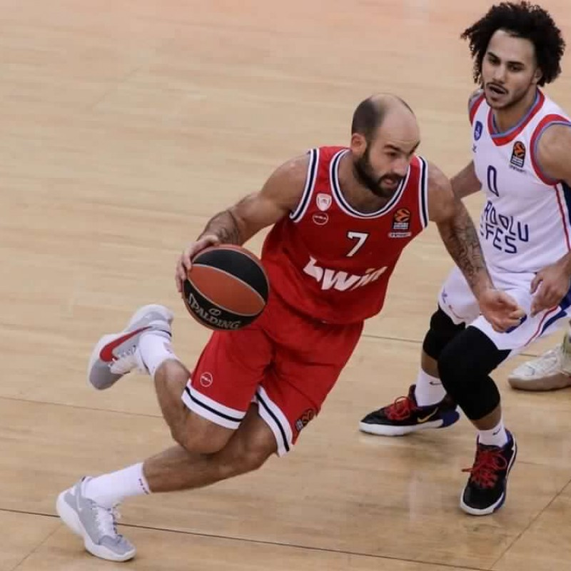 Spanoulis' Olympiacos Worn Jersey, Eurolega 2020/21 - Signed by the Team