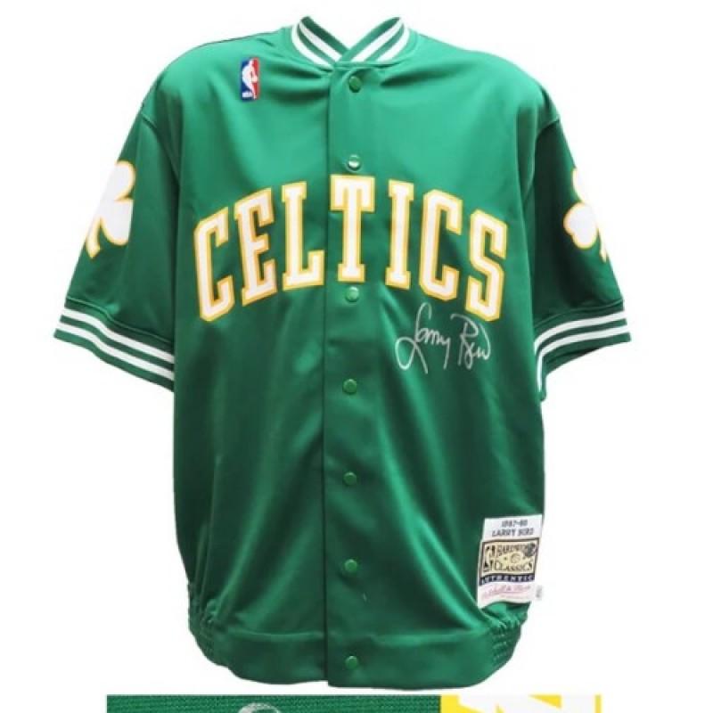 Larry Bird Signed Celtics Warm-Up Jacket
