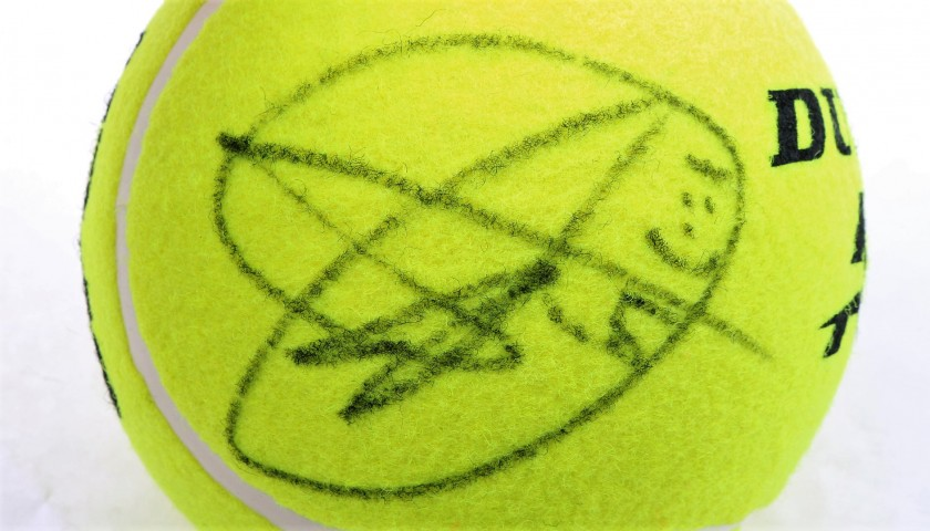 Tennis Ball Signed by Djokovic at the Mutua Madrid Open 2019