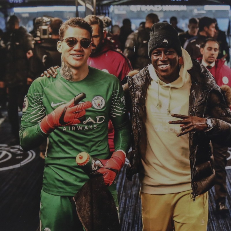 Manchester City's Ederson & Benjamin Mendy Unique Picture