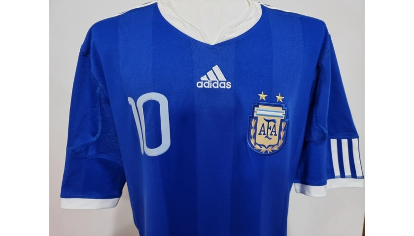 Messi's Official Argentina  Signed Shirt, 2010
