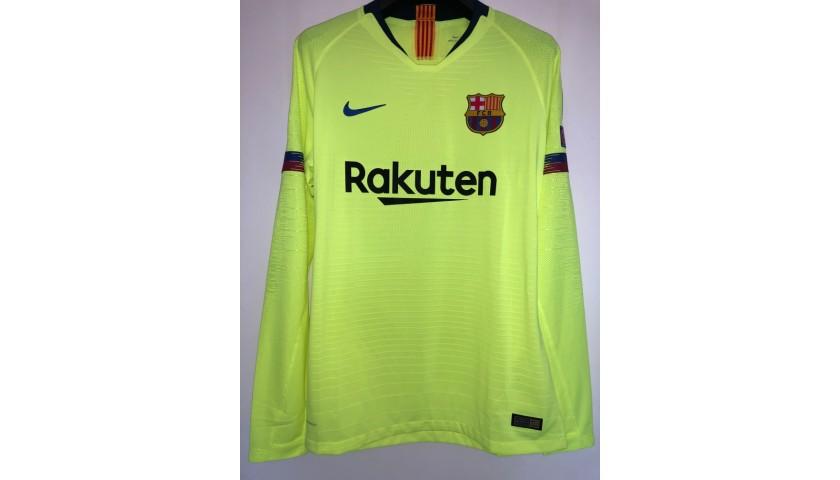 Pique's Match Shirt, PSV-Barcelona 2018