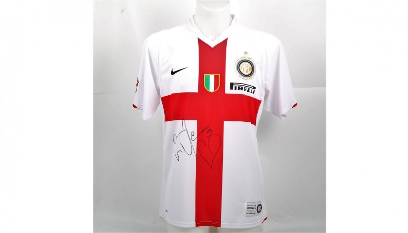 wholesale dealer cb949 efcfc Eto'o's Signed Match-Issued Inter-Genoa Shirt, 2010 - CharityStars