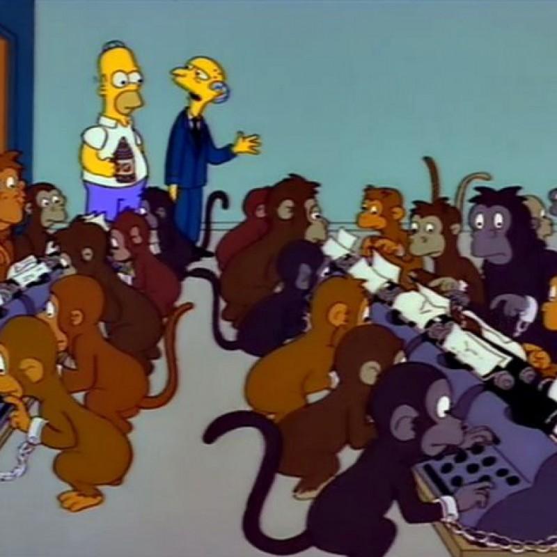 The Simpsons - Original Drawing of Homer's Monkey Brain