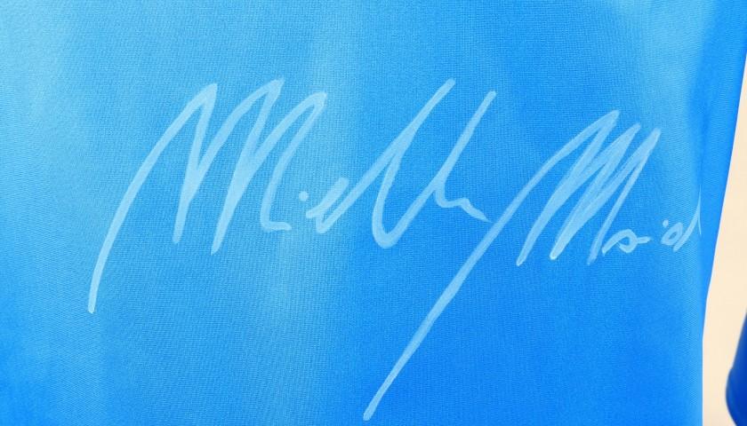 Tuta FISI indossata e autografata da Michela Moioli