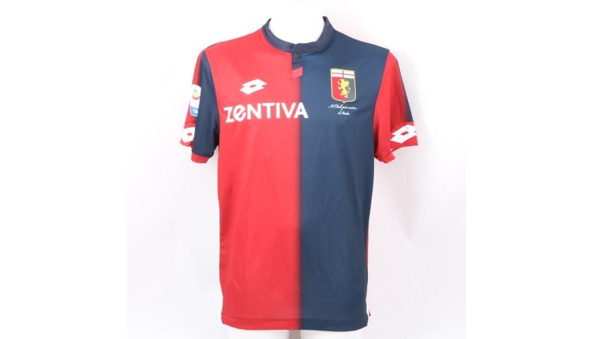 Piatek's Official Genoa Shirt, 2018/19 - Signed