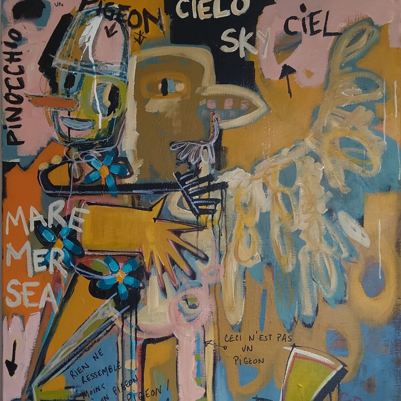 """PINOCCHIO:Pigeon or not Pigeon"" by Cécile Guicheteau"