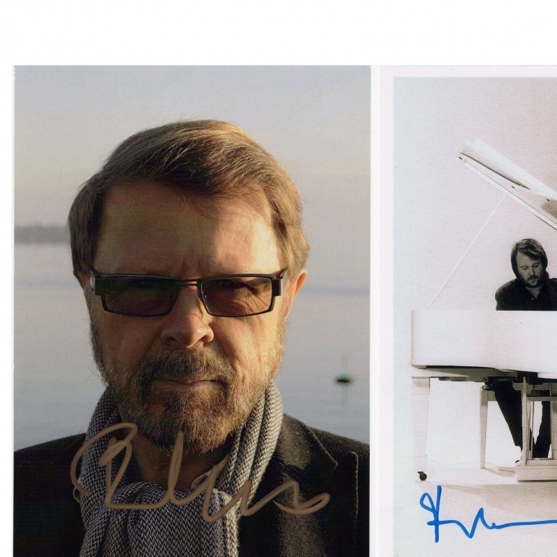 Benny Andersson and Björn Ulvaeus (ABBA) signed pictures