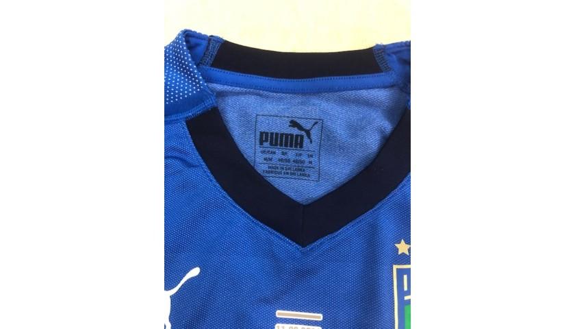 Jorginho's Match Shirt, Italy-Bosnia 2019
