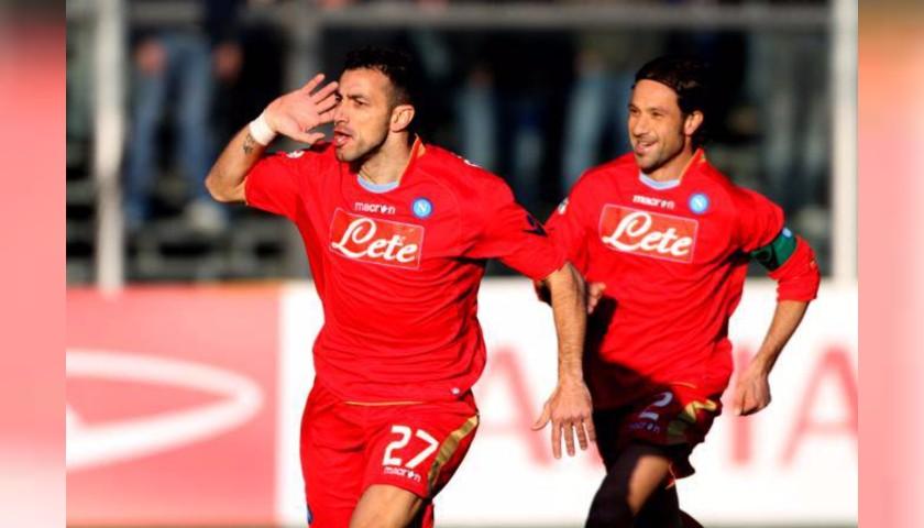 Quagliarella's Napoli Worn Shirt, 2009/10