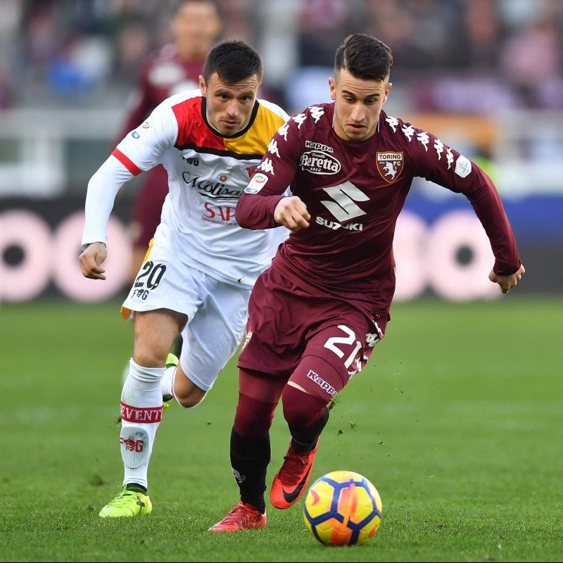 Berenguer's Match-Worn Torino-Benevento Shirt, Special Patch